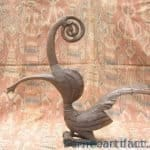 majestic creature sculpture 470mm hornbill rhino statue figure figurine bird