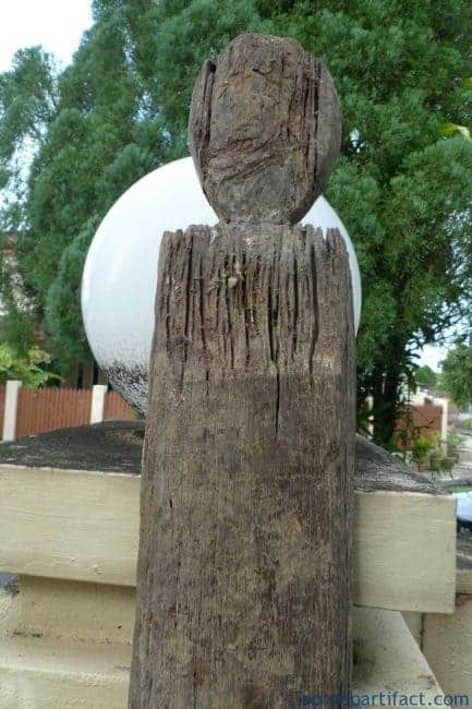 2.3Meter XXXXL BORNEO LONGHOUSE IRONWOOD STAIRCASE STAIRS Dayak Figure Statue