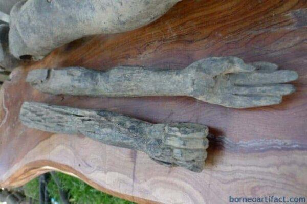 DAYAK BAHAU 940mm PENIS FERTILITY STATUE Dyak Antique Figure Sculpture Indonesia