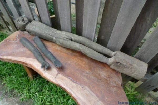 MALE PATUNG POLISI STATUE, MALE PATUNG POLISI 1100mm XXXL STATUE Police Dayak Tribal Figure Wood Sculpture