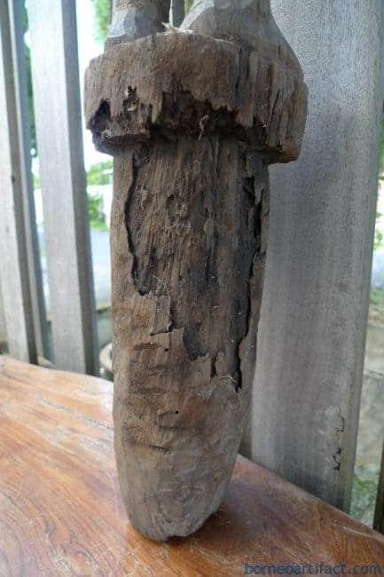 MASSIVE DAYAK FIGURE 1290mm HARDWOOD STATUE Police Dayak Tribal Sculpture Borneo
