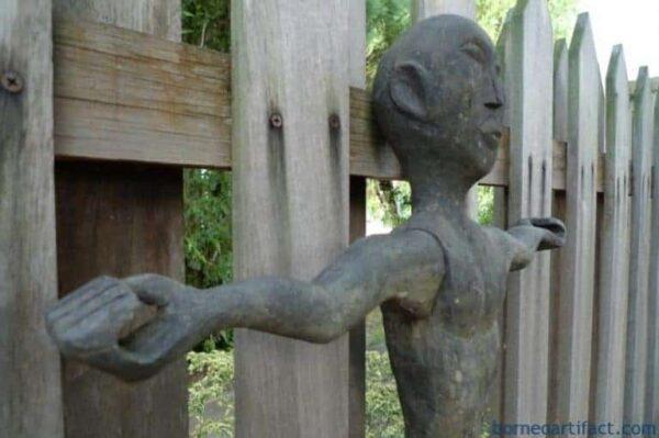 Patung Dyak Primitive Figure Sculpture, ANTIQUE DAYAK 860mm BAHAU STATUE Patung Dyak Primitive Figure Sculpture Borneo