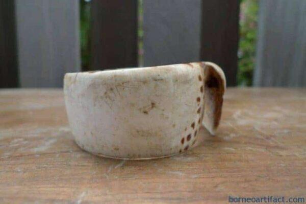 BANGLE Seashell WRIST BRACELET, FREE SHIPPING 60mm OLD BANGLE Seashell WRIST BRACELET Dayak Art Jewel Jewelry #4