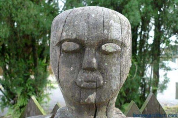 TALL Tribal Figure Sculpture, 50 lb XXXL DAYAK STATUE 1240mm TALL Tribal Figure Sculpture Borneo Dyak Native