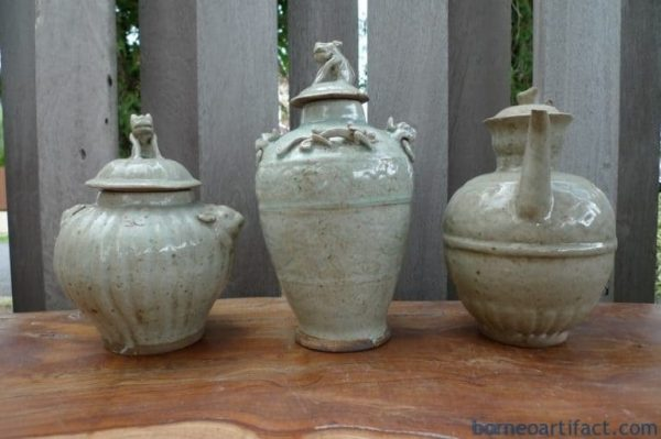 TEAPOT & GINGER JAR ANTIQUE PORCELAIN Kettle Pot Vase Pottery Teakettle Dine