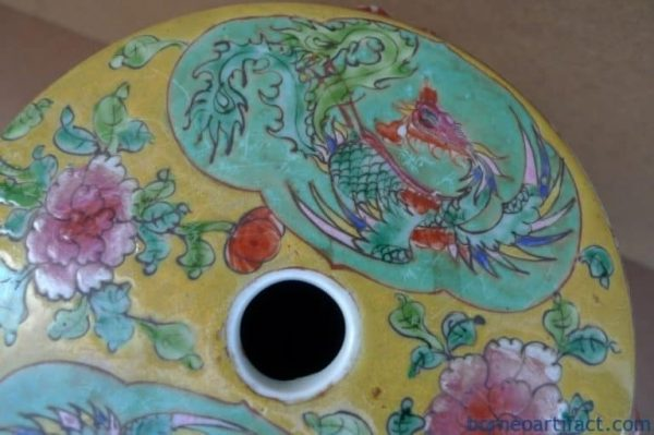 SMALL STOOL 205mm NYONYA CHILD CHAIR Bench Phoenix Chinese Porcelain Furniture