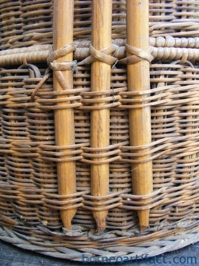 Chinese WEDDING BASKET, Old Chinese WEDDING BASKET Woven From Rattan Traditional Asia Asian Malaysia