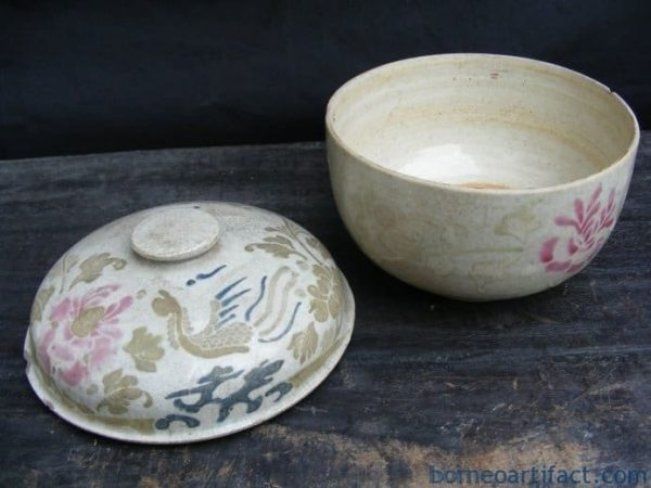 ANTIQUE WHITE CHUPU, ANTIQUE WHITE CHUPU One and Only Color & pattern Nyonya COVERED JAR BOX Porcelain