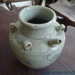 #2 GREEN NAGA KETTLE Qing Dynasty (1644-1912) Pot Pottery Vase Wine Jar Pitcher