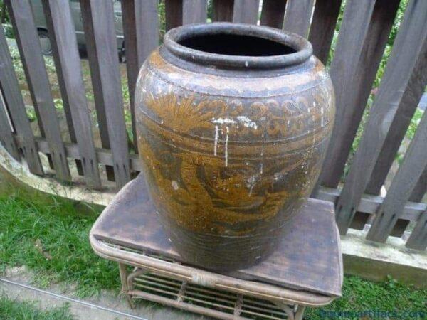 ANTIQUE WATER JAR, MASSIVE MASSIVE MASSIVE 720mm ANTIQUE WATER JAR Vase Pot Pottery Basin Ceramic