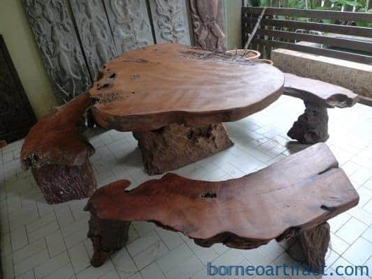 GARDEN FURNITURE 3 CHAIR & 1 TABLE Set Billion Ironwood Swimming Pool REST HOUSE