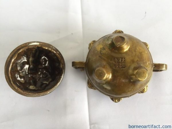 Brass Covered Container