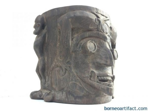 IMPRESSIVE 360mm OLD Native CHILD CARRIER Ironwood Artifact Backpack Ancestral