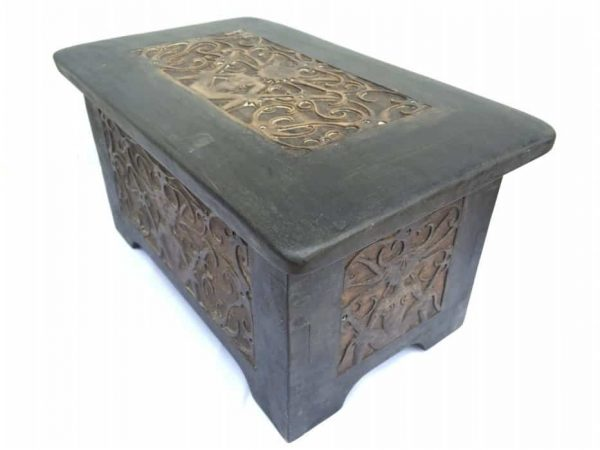 tribal treasure chest 450x260mm wooden box container storage halloween pirate
