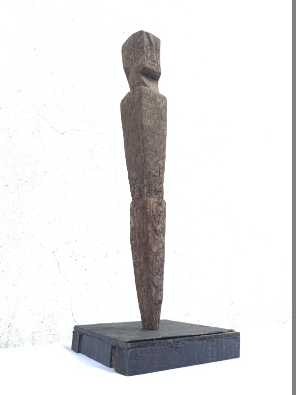 ANTIQUE ANCESTRAL Rice Field Guardian STATUE IMAGE POLE borneo Sculpture Icon Borneo #3