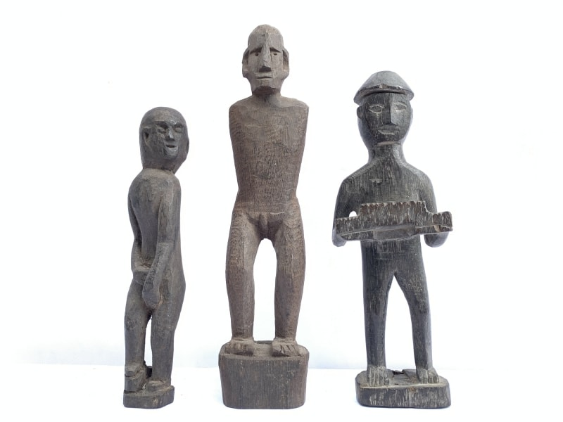 PATONG STATUE, Ancestral Figure PATONG STATUE KAYAN Dayak HeadHunter Icon Image Sculpture Asia