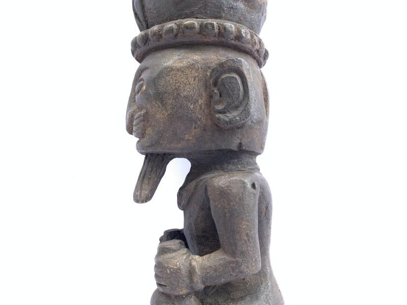 PATUNG PANGLIMA NIAS STATUE Naked Penis, 520mm PATUNG PANGLIMA NIAS STATUE Naked Penis Fertility Warrior Sculpture Figure