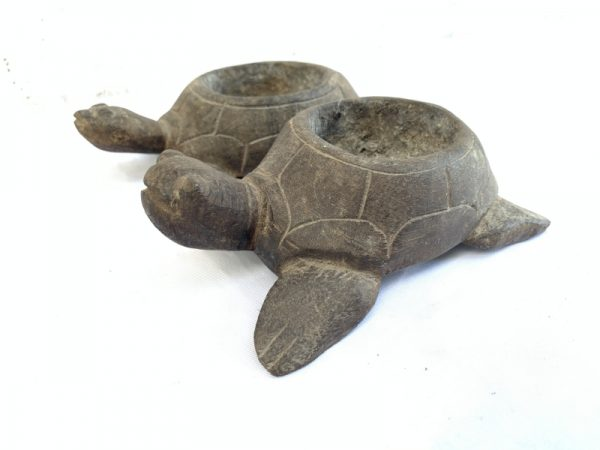 OLD INCENSE BOWL Turtle Tray Burner Smoker Worship Container Statue Sculpture #3