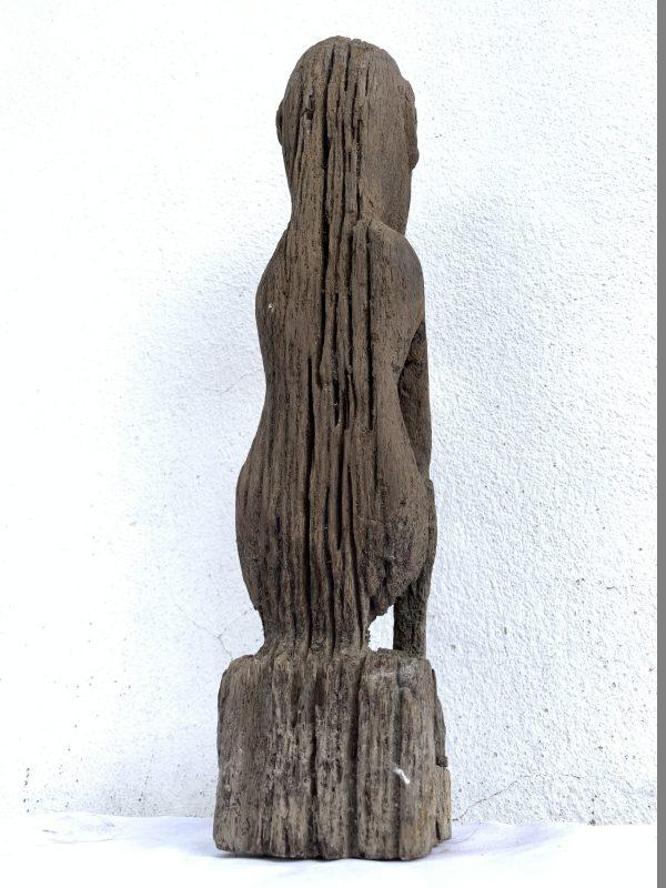 LUBOK BRUTAN BORNEO 420mm WEATHERED STATUE Antique tribal Sculpture