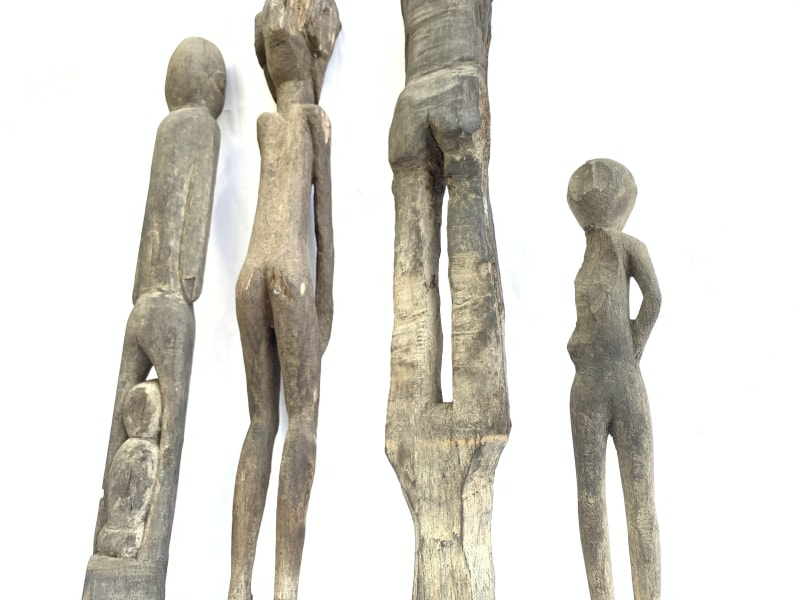 FOURERODED mmSTATUEPatungKebahanDayakPrimitiveArtFigureAUTHENTIC