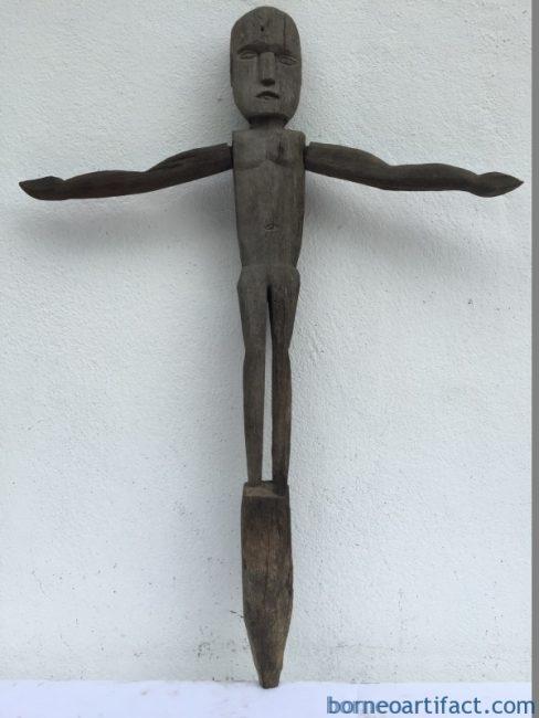 WEATHERERODEDSTATUEmmPatungDayakDyakPrimitiveFigureSculptureGarden