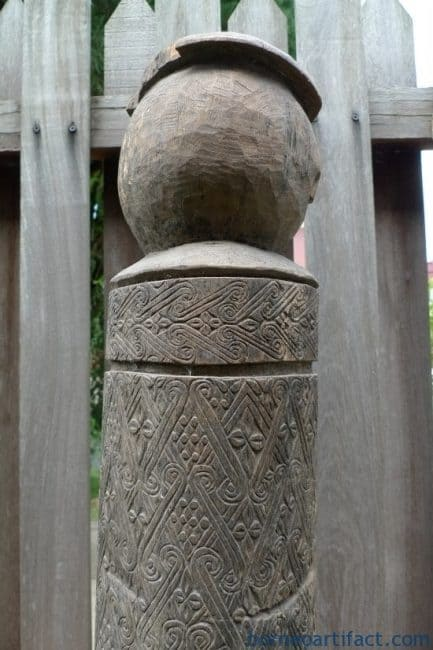 OLD TAFU TANIMBAR LETI STATUE, ONE and ONLY 730mm OLD TAFU TANIMBAR LETI STATUE Sculpture Artefact Ritual Pole