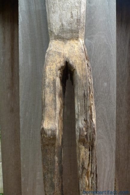 ERODED GUARDIAN 1190mm DAYAK STATUE Patung Kebahan Primitive Figure Sculpture