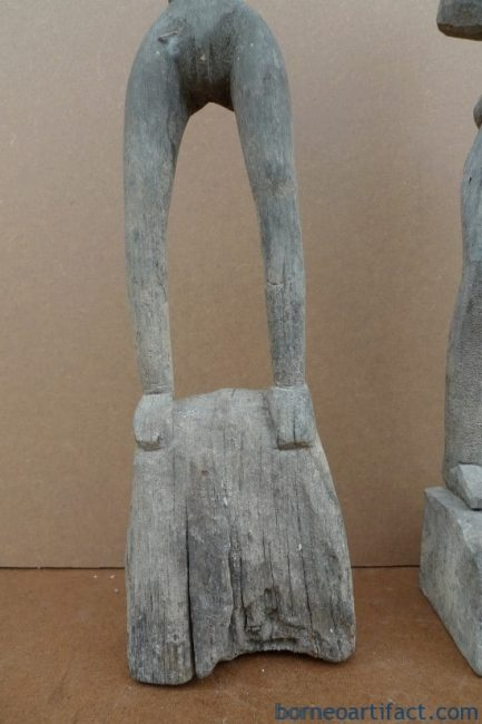 HOME GUARDIAN STATUE, HEADHUNTER 520mm HOME GUARDIAN STATUE Authentic Dayak Primitive Figure Ironwood