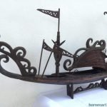 SPECTACULAR XXXL TRIBAL 1280mm/50.4 BOATHOUSE VESSEL Figure Mansion Hotel Boat