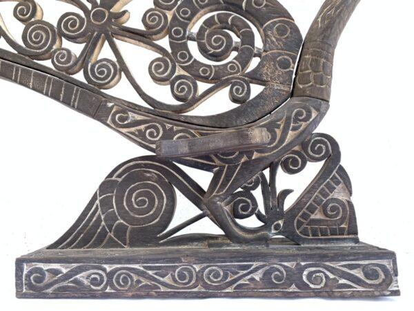 HORNBILL BIRD Kenyalang Figure Statue, AMAZING SCULPTURE 850mm/33″ SACRED HORNBILL BIRD Kenyalang Figure Statue Animal