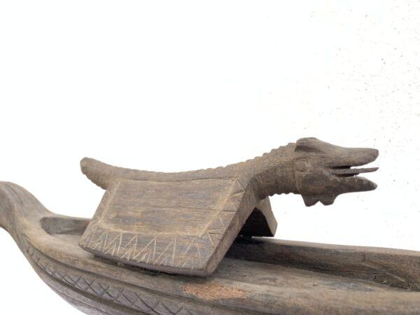 SERPENTBOAT.OLDTRIBALVESSELStatueSculptureFigureTribalAsiaAsian