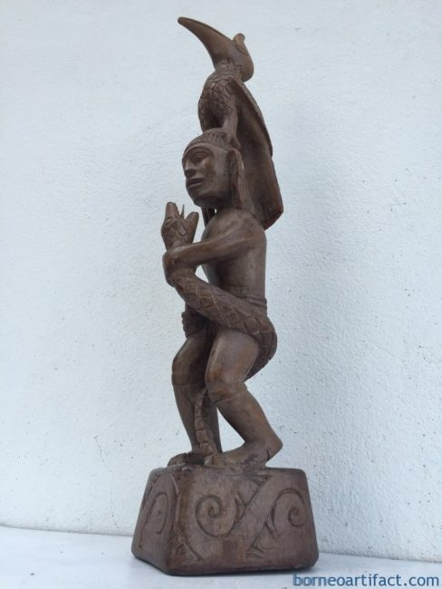 Old Dayak Statue