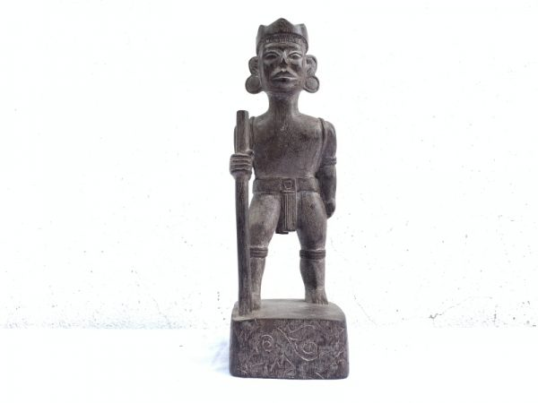 authentic antique dayak image statue sculpture warrior traditional hunter figure