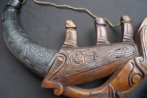 NAGA MORSARANG Horn Statue, ~ONE PAIR~ NAGA MORSARANG Horn Statue Medicine Box Container Jewelry Chamber #2