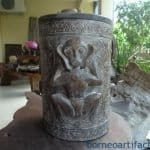 XXXXXXL 560mm DAYAK RICE CONTAINER Box Chamber Jar Pot Statue Carving Sculpture