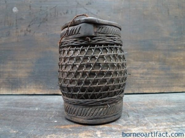 GIANT BAMBOO 160mm TORAJA BOTTLE BOX CONTAINER Ancestral Figure Statue Image