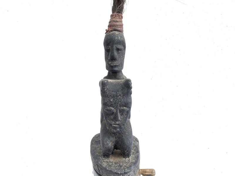 HORN GANA-GANA Statue, #3 LARGE BATAK CHAMBER 380mm HORN GANA-GANA Statue Sculpture Figure Artifact Art