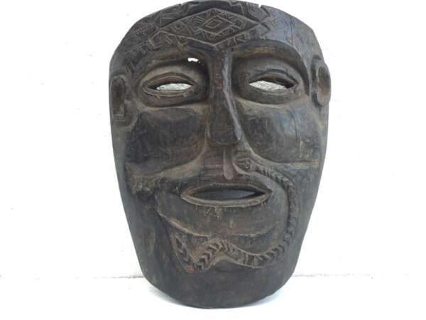 TRIBAL MASK Facial Artifact, TUKUDEDE Timor-Leste 9.8″ TRIBAL MASK Facial Artifact Native Artefact IRONWOOD
