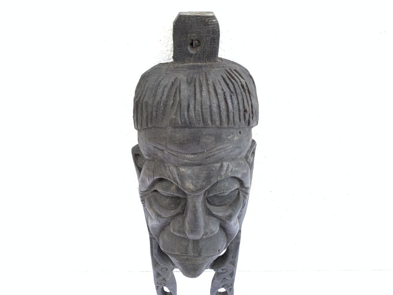 AGED OLD SCULPTURE, AGED OLD SCULPTURE / MASK 490mm IRONWOOD Penan Nomadic Face Borneo Wall Bar Pub