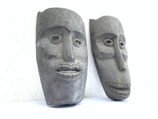 Face Statue Painting, MASK OF ASIA 280x150mm ONE PAIR Topeng Wall Art Decoration Face Statue Painting