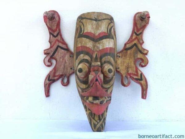 XXXL TOPENG HUDOG DAYAK MASK Borneo Facial Face Image Home Bar Sculpture Statue