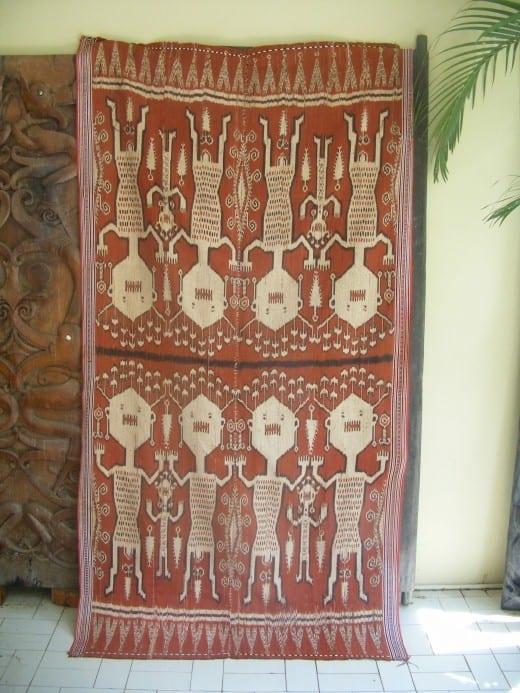 PUA KUMBU Warrior & Spirit Realm Ancestral RITUAL TEXTILE Cloth Fabric Blanket