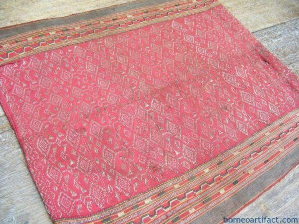 BLOOD RED SUNGKIT Bidang Ritual SKIRT Rosette FLOWER SARONG LADIES GARMENT #80