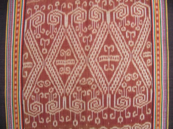 traditional outfit THRONE OF PETARA LEECH Ikat Bidang Ritual SKIRT SARONG LADIES GARMENT #86