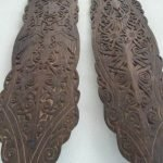 ONE PAIR 1190mm/46.9 BORNEO SHIELD Dayak Asian Armor Tribe Tribal Panel Carving