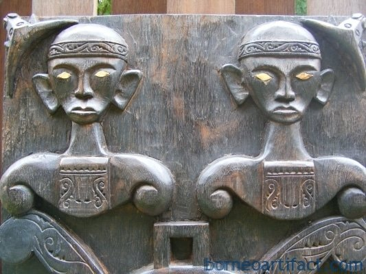 HEAVILY CARVED ALTAR PANEL, 3 HEAVILY CARVED ALTAR PANEL Nias Toraja Borneo Restaurant Home Rest House Bar