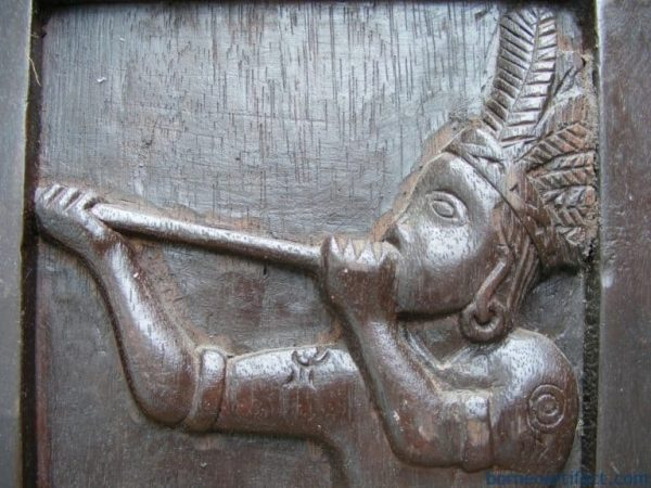 LOST SCENERY OF BORNEO 3 Dayak Sculpture Painting Headhunter Head Hunting Tribe