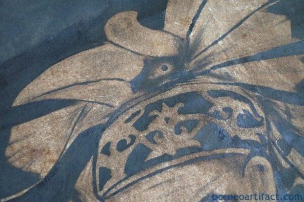 #OILPAINTING:xmmDAYAKHUNTERFIGURESculptureDrawingWallSarawak