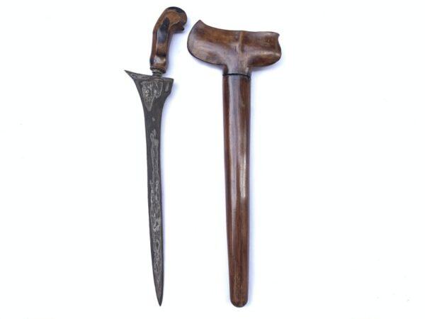 BEAUTIFUL BLADE 450mm OLD KERIS WOS WUTAH Weapon Knife Dagger Sword Kris Kriss