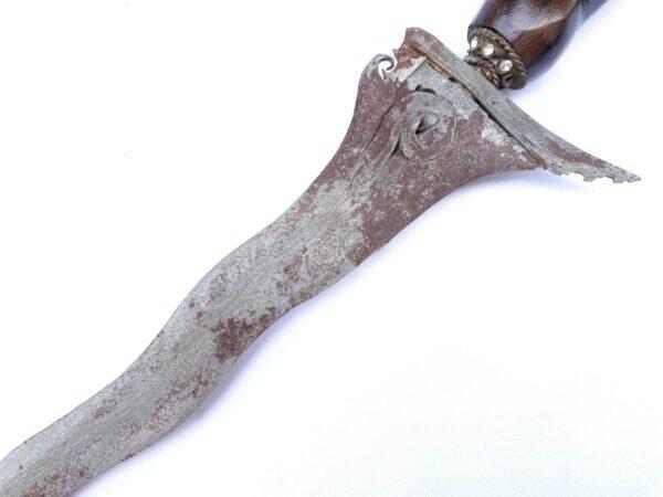 Keris Kris Java 7 Luk WARRIOR Weapon  PAMOR Lintang Kemukus Wavy Blade Sword Asian Knife